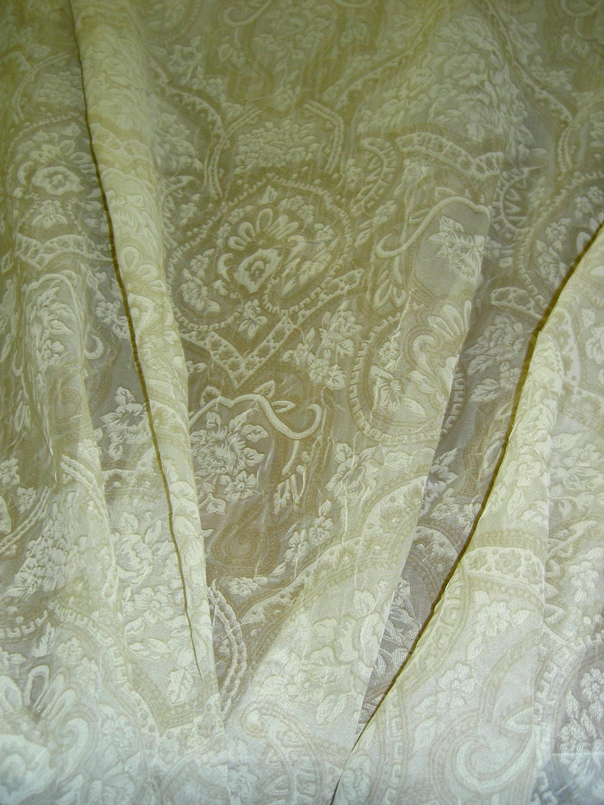 eurofab crushed orleans beig sheer drapery window treatment designer fabric