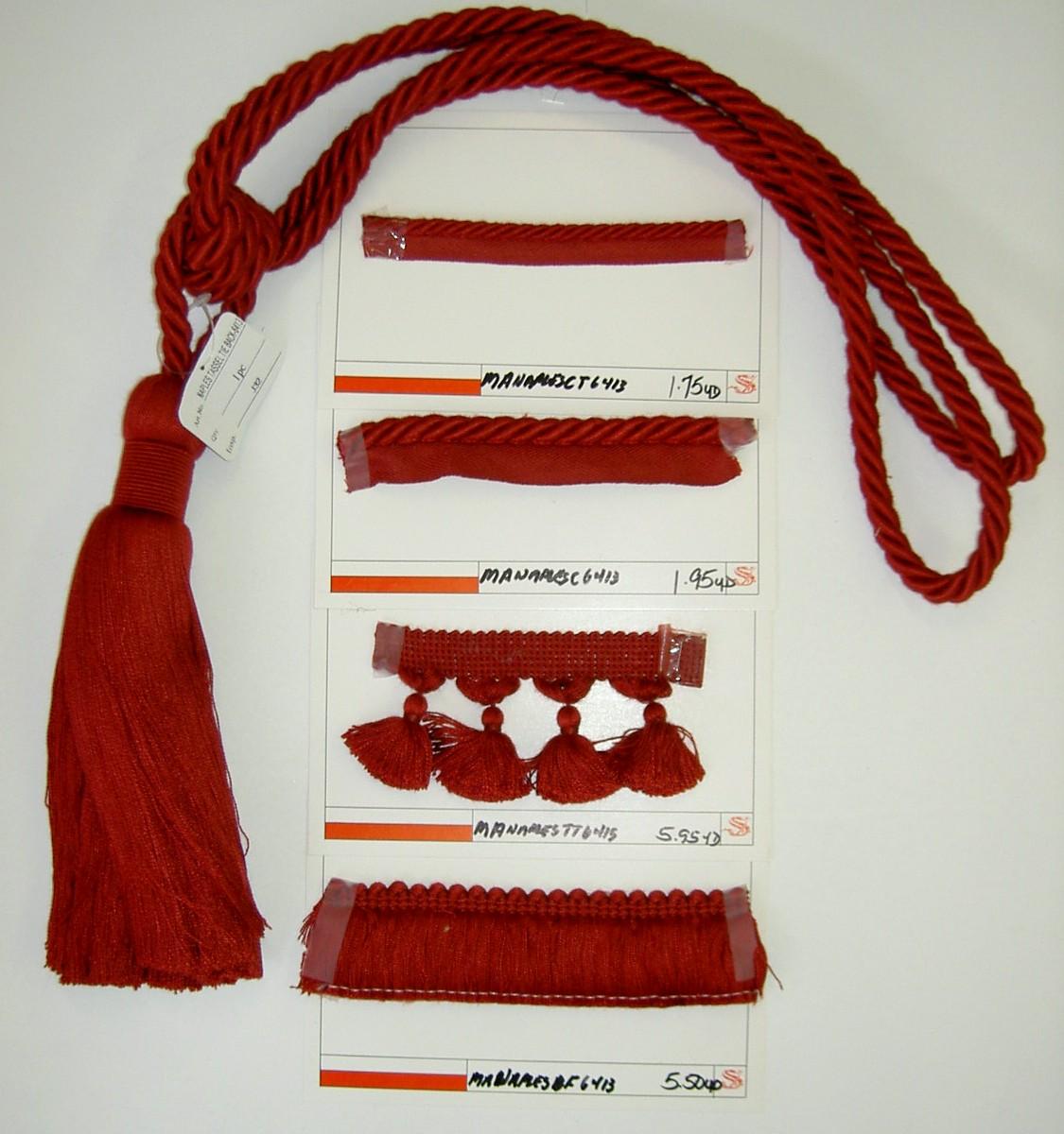 discount designer home decor tassel trim fringe cording thumbnail