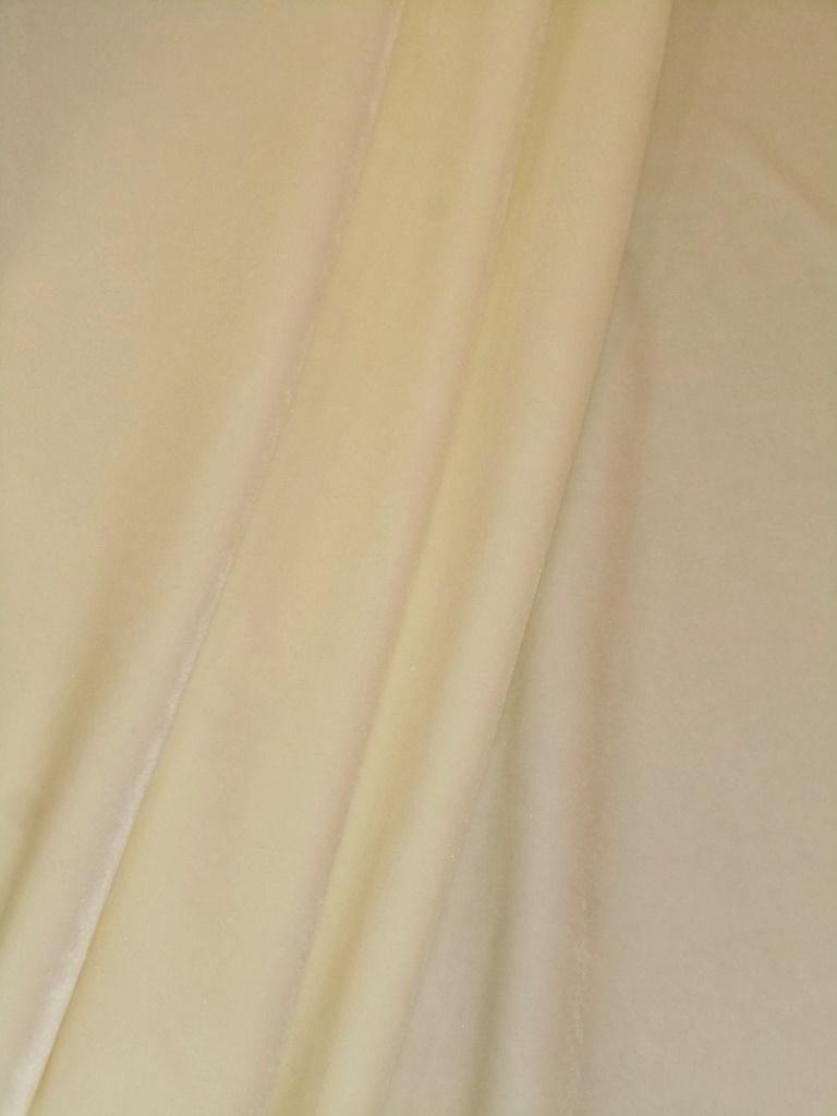 Fleece Like Velvet Home Decor Fabric In Off White