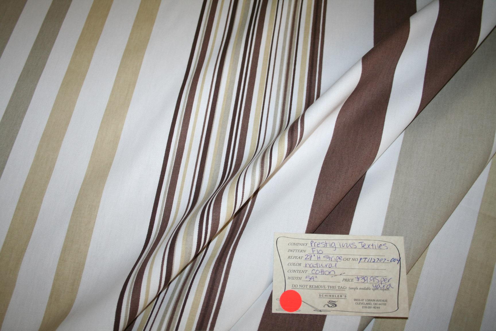 Textiles Flo Natural Interior Decorating Fabric