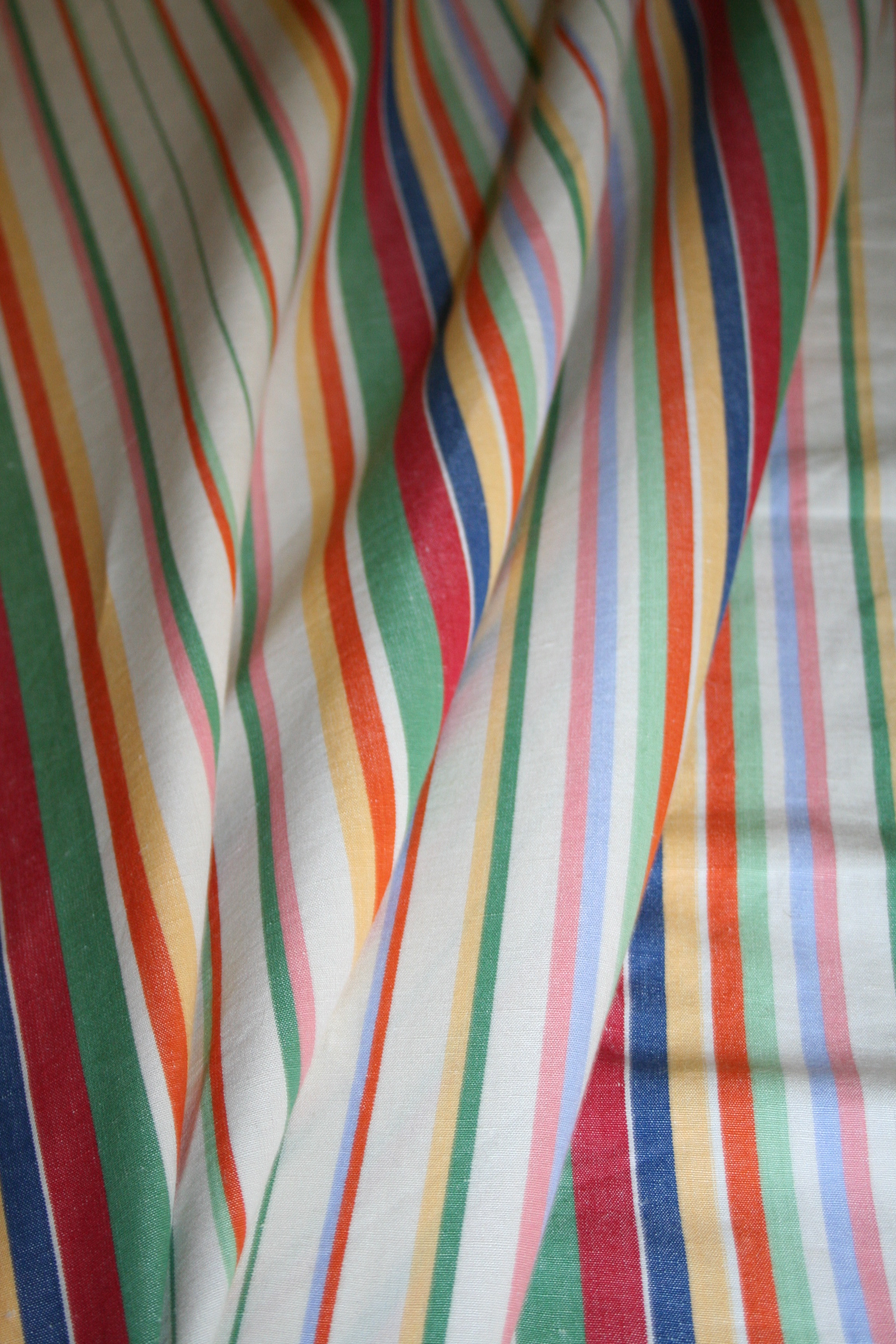 Ralph Lauren Design Didier Stripe Multi Cotton Linen Blend