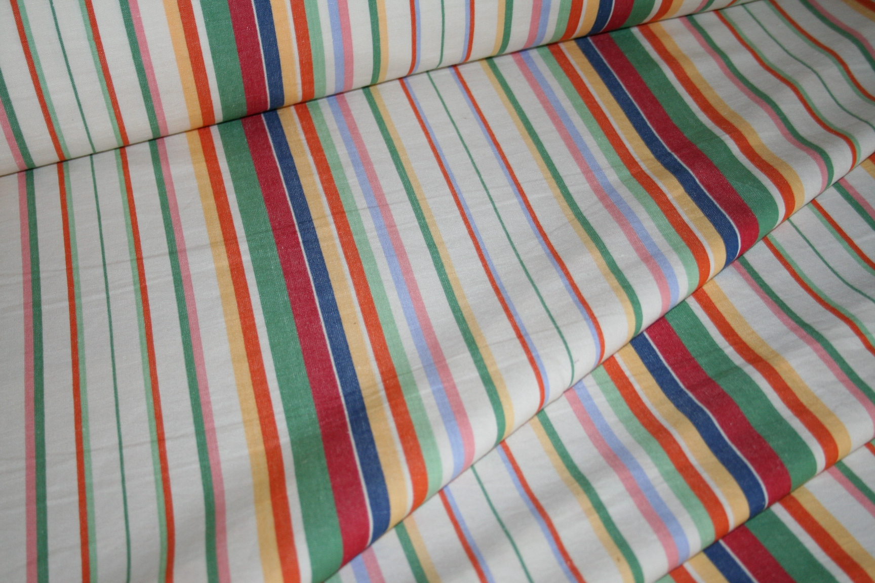 Ralph Lauren Design Didier Stripe Multi Cotton Linen Blend