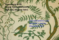Click for Brunschwig & Fils Bird & Thistle REMNANTS  Page