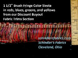 Brush Fringe from our Discount Buyout Fabric Trims Section, in vivid Mexican looking reds, blues, greens and yellows