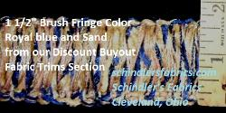 Brush Fringe Royal blue and Sand
