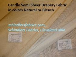 Click for Pattern Candle Semi Sheer Drapery Fabric in colors Natural or Bleach page
