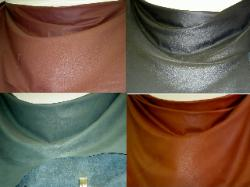 Closeout Leather Hides Rust Black Green Tan for Upholstery