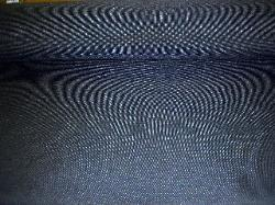 Closeout Navy Blue Canvas Texture Upholstery Fabric