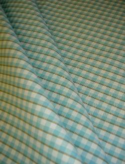 Design Cheap Clearance Sale P Kaufmann Cambridge Check Color Turquoise Fabric for Home Decor draped
