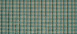 Swatch of Design Cheap Clearance Sale P Kaufmann Cambridge Check Color Turquoise Fabric for Home Decor