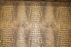 Straight Down View of this discount crocodile skin design vinyl upholstery fabric at Schindler's Upholstery Shop