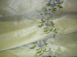 Folded Fabric Image of Belize Lavender Embroidered Fabric at Schindler's Fabrics