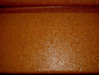 Faux Tooled Etched Leather by the yard pattern Laredo Upholstery Vinyl Fabric Color Pottery