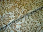 folded Fabric Store Remnant Special Silk Drapery and Upholstery Damask Brown on Sky Blue - click for video and more images