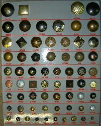 Furniture Nails and Buttons, Traditional Upholstery Collection - see larger picture page