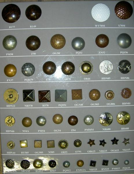 Upholstery Furniture Nails and Buttons Western Collection