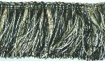 Genova 798 Black, White & Sand Decorator Brush Trim from Erie Islands Fabrics Collection