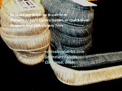 In Stock Ameriphlox Brush trim Pattern 2720/5  Drapery and Upholstery Trim, in colors 4034 Denim or 4031 Quicksilver