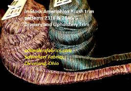 In Stock Ameriphlox Brush trim patterns 2316 & 2846/5 Drapery and Upholstery Trim