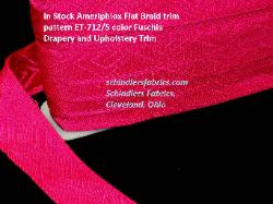 In Stock Ameriphlox Flat Braid trim pattern ET-712/5 Drapery and Upholstery Trim, in color Fuschia