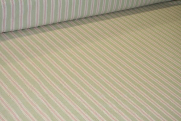 Laura Ashley Pippen Stripe Willow Fabric Design LA1290 Portfolio Fabrics L100907-002 - click for store page