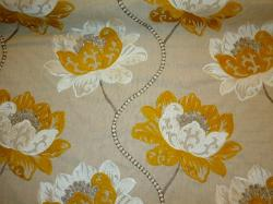 Longwood is a high end premium floral embroidered designer linen poly rayon mettallic accented fabric