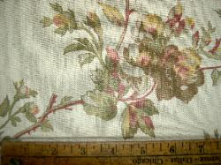 Closeup Linen Fabric Pattern Cutalan Rose
