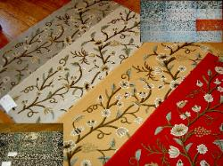 See Linen Wool Embroidery Crewel Fabric Collection and Pillow Panels