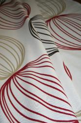 Prestigious Textiles Pattern Orbital Color Ruby Interior Decorating Fabric, Right Drapes