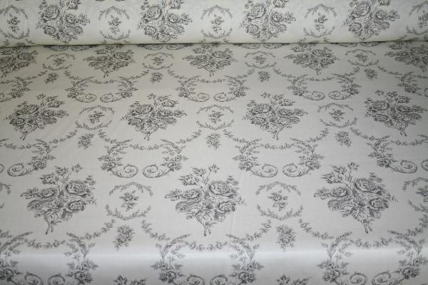 Ralph Lauren Design Closeout Saratoga Toile Color Charcoal Home Decorating Fabric