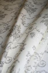 Ralph Lauren Design Closeout Saratoga Toile Color Charcoal Home Decorating Fabric draped