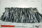 Roma 964 Black and White Decorator Brush Trim from Erie Islands Fabrics Collection