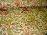 World Linen Fabrics 100% Linen Birds of Paradise Camel - click for more images